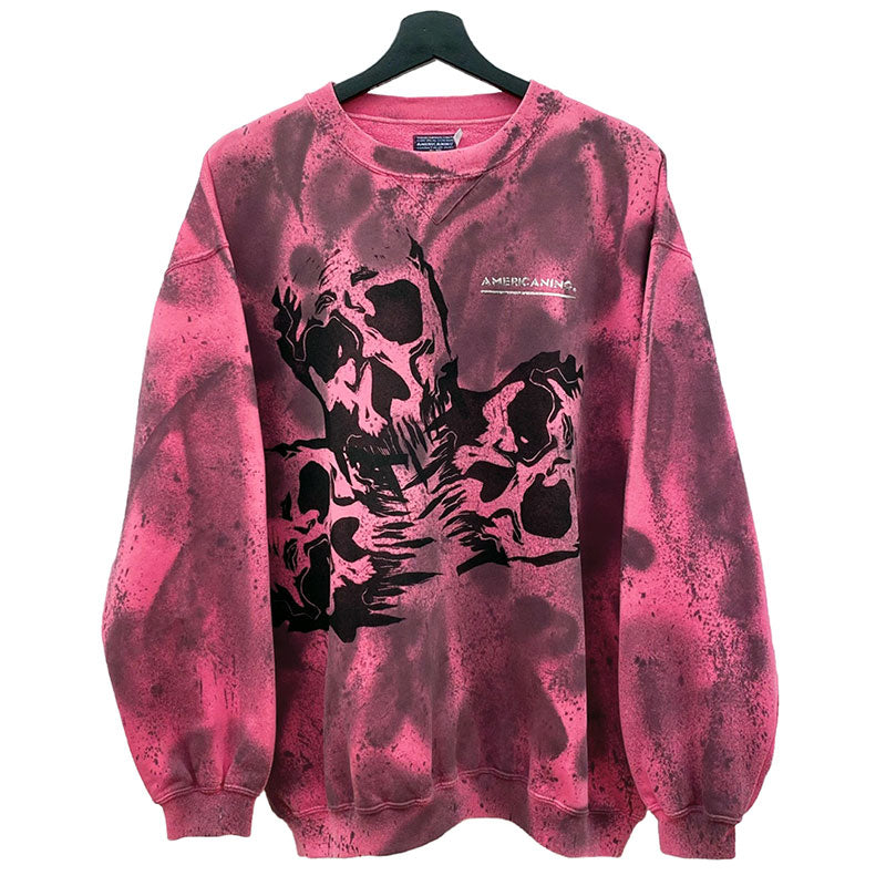 kalafaker vintage clothes & custom clothes. sudadera americanino color rosa