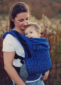 Little frog - Toddler ergonomic carrier Navy Anchors