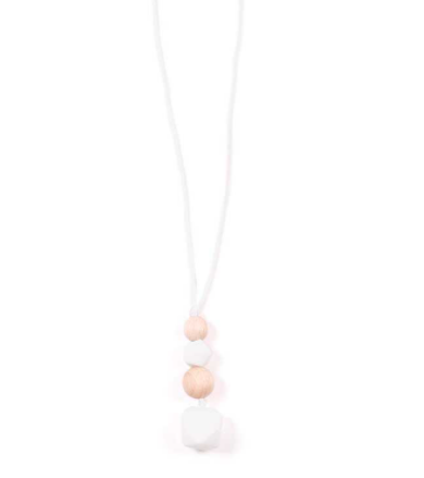 Collier allaitement/dentition – Astral: Blanc
