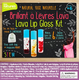 Kit de fabrication de brillant à lèvres Lava - Kiss Naturals