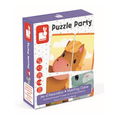 Puzzle party  jeu d'association  -Janod
