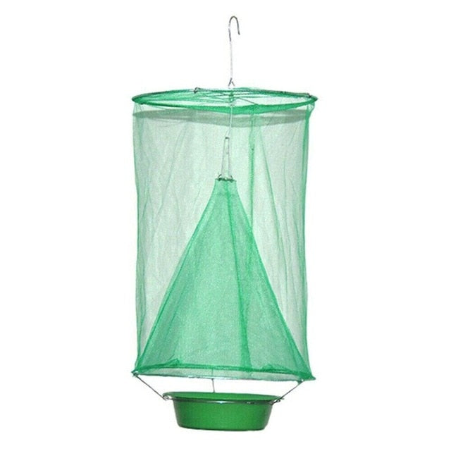 Pokich 1PC Reusable Folding Hanging Flycatcher Summer Mosquito Trap Catcher Fly Wasp Insect Control Garden Home Yard Supplies