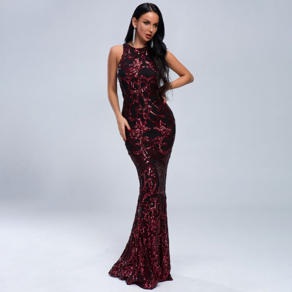 Evelyn Belluci - Jacqueline Sequin Sleeveless Gown