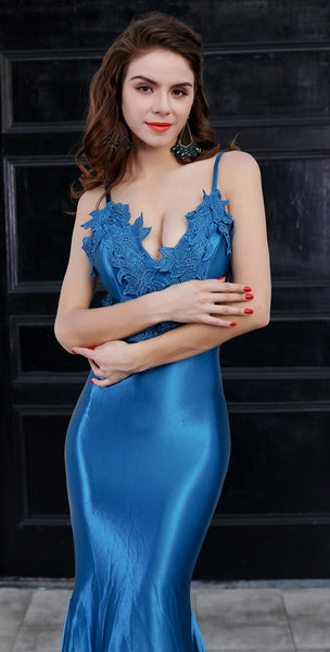 Evelyn Belluci - Blue Evening Gown