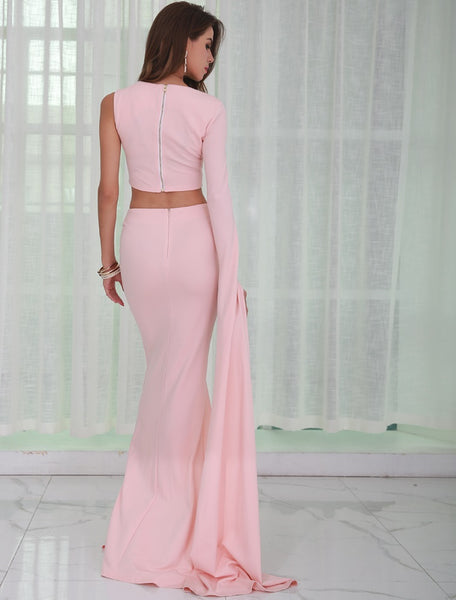 Evelyn Belluci - Pink Two Piece Gown