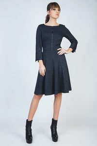 Conquista - Check Fit and Flare Dress