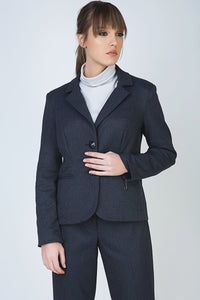 Conquista - Button Blazer With Zip Detail
