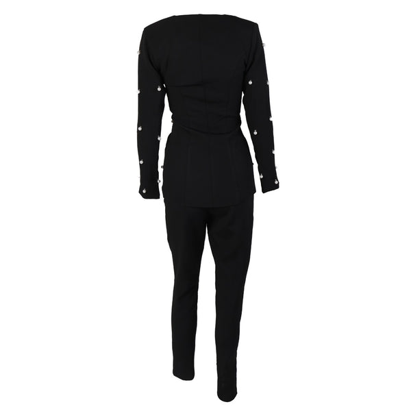 Evelyn Belluci - Black Two Piece Jumpsuit