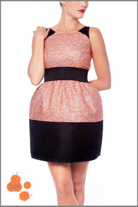 Anamayadesign - Black & Orange Dress Madness