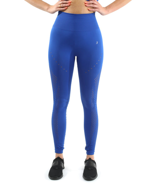 RSP Fashion - Milano Seamless Legging - Blue [MADE IN ITALY] - Size Small