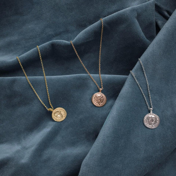 Latelita - Roman Coin Pendant Necklace Gold