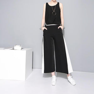 Marigold Shadows - Augustini Flare Pants - Black