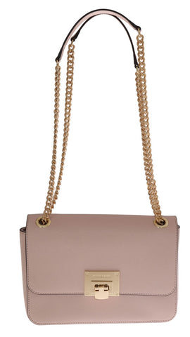 Pink TINA Leather Shoulder Bag