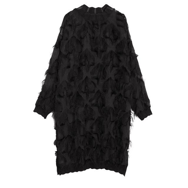 Marigold Shadows - Yuko Loose Long Sleeve Dress
