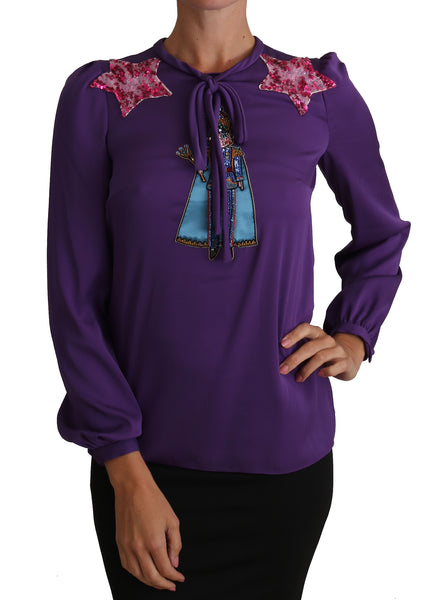 Purple Blouse Prince  Fairy Tale Embellished  Top