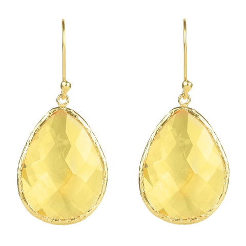 Latelita - Single Drop Earring Citrine Hydro Gold