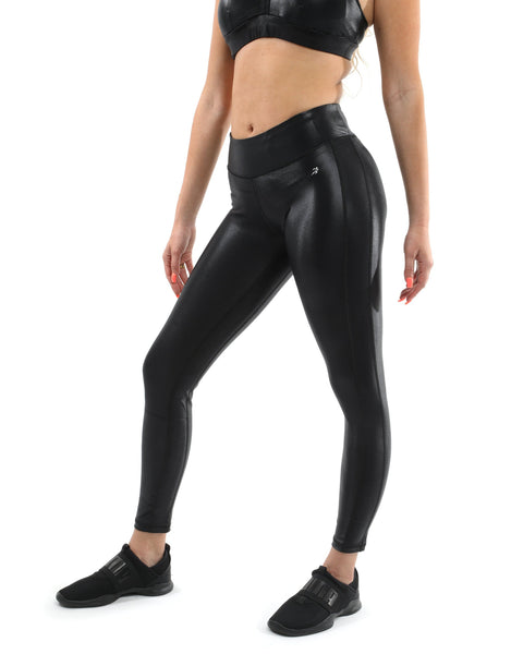 RSP Fashion - Cortina Activewear Leggings - Black [MADE IN ITALY] - Size Small