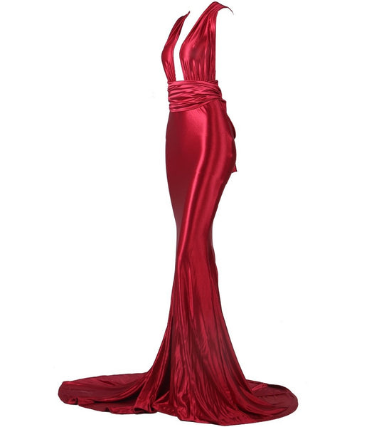 Evelyn Belluci - Red Evening Gown