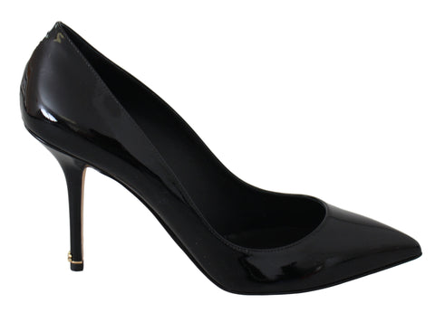 Black Patent Leather Heels Pumps Shoes
