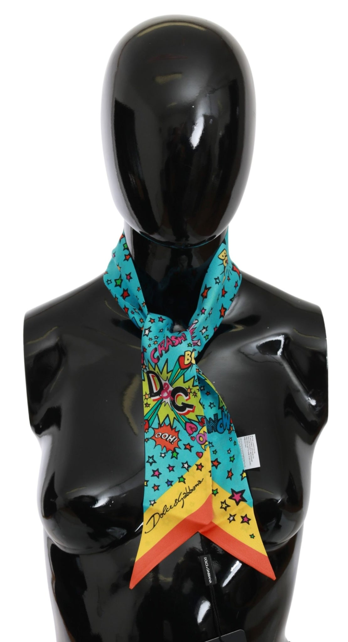 Multicolor Silk WOW Necktie Shawl Scarf