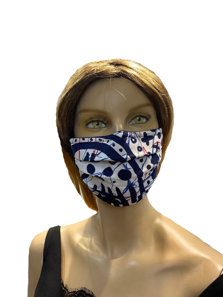 Tic Toc Blue - Surgical Style Designer Face Mask