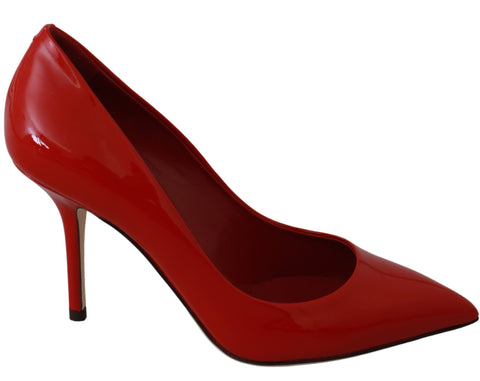 Red Patent 100% Leather Pumps