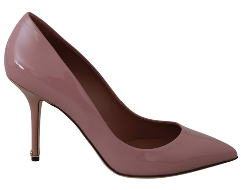 Pink Patent 100% Leather Heel Pumps