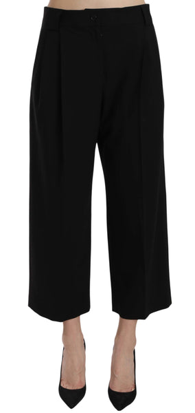 Black Print Trousers Pants