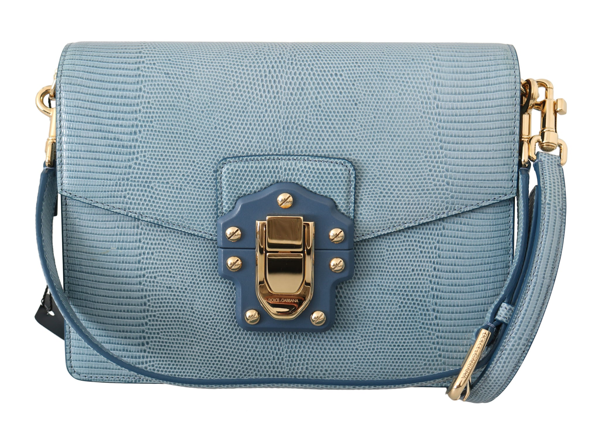 Blue Leather LUCIA Shoulder Messenger Hand bBag Purse