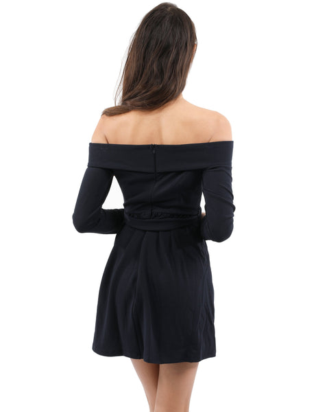 RSP Fashion - Royalton Off-Shoulder Long Sleeve Mini Dress