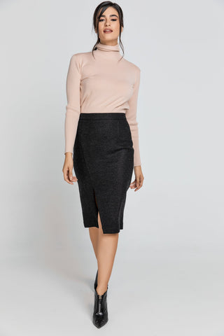 Conquista - Black Pencil Skirt