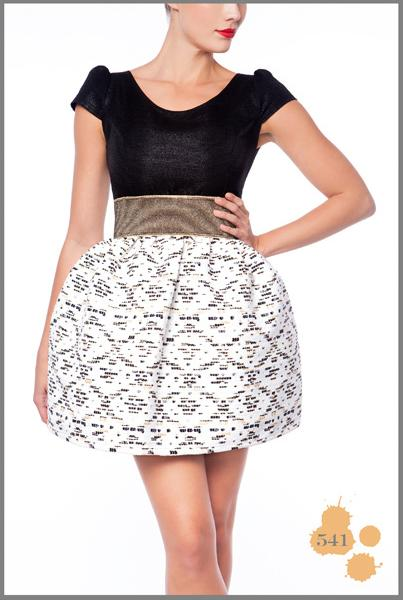 Anamayadesign - Black & White Short Dress Madness