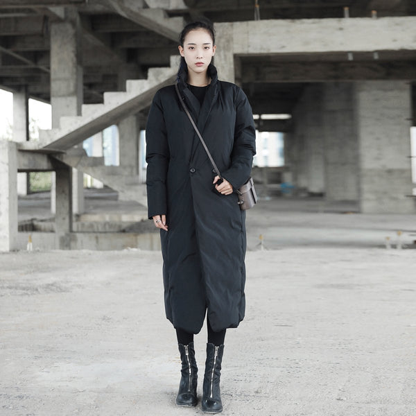 Marigold Shadows - Namie Stand Collar Pocket Coat