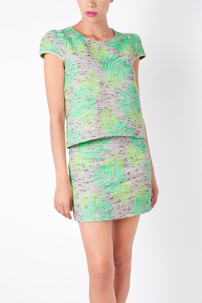 Anamayadesign - Green Top & Skirt