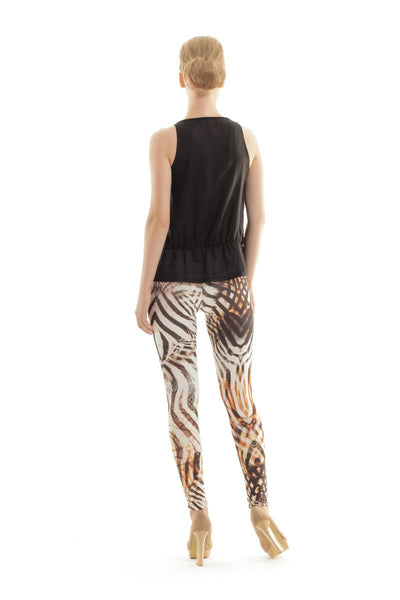 Conquista - Animal Print Silky Pants