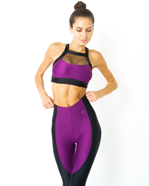 RSP Fashion - Stanley Contrast Sports Bra With Mesh Detail