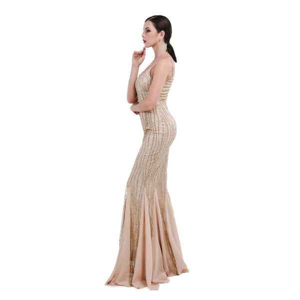 Evelyn Belluci - Gold Evening Gown