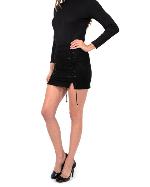 RSP Fashion - Dixie Lace-Up Mini Skirt