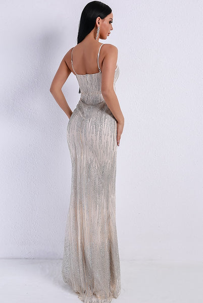 Evelyn Belluci - Silver Evening Gown