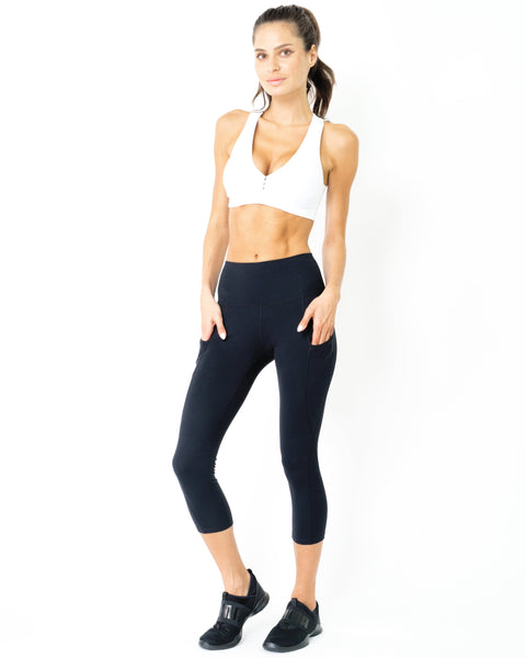 RSP Fashion - Jolie High-Waist Capri Leggings With Hip Pockets