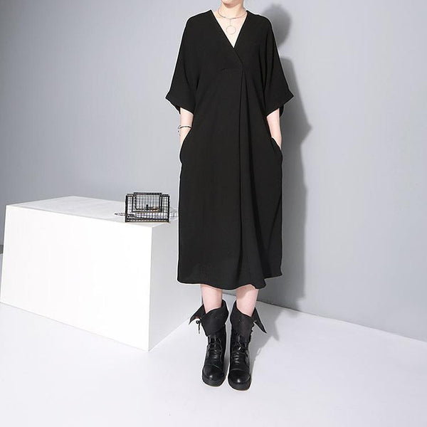 Marigold Shadows - Aragon Belted Dress - Black
