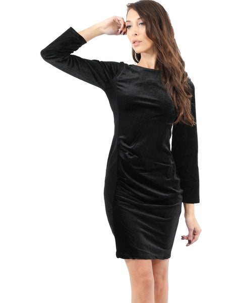 RSP Fashion - Stuart Velvet Long Sleeve Little Black Dress