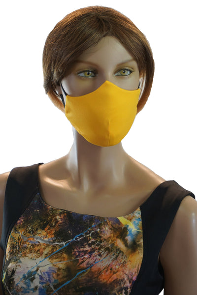 Scuba Yellow - Designer Fashion Face Mask