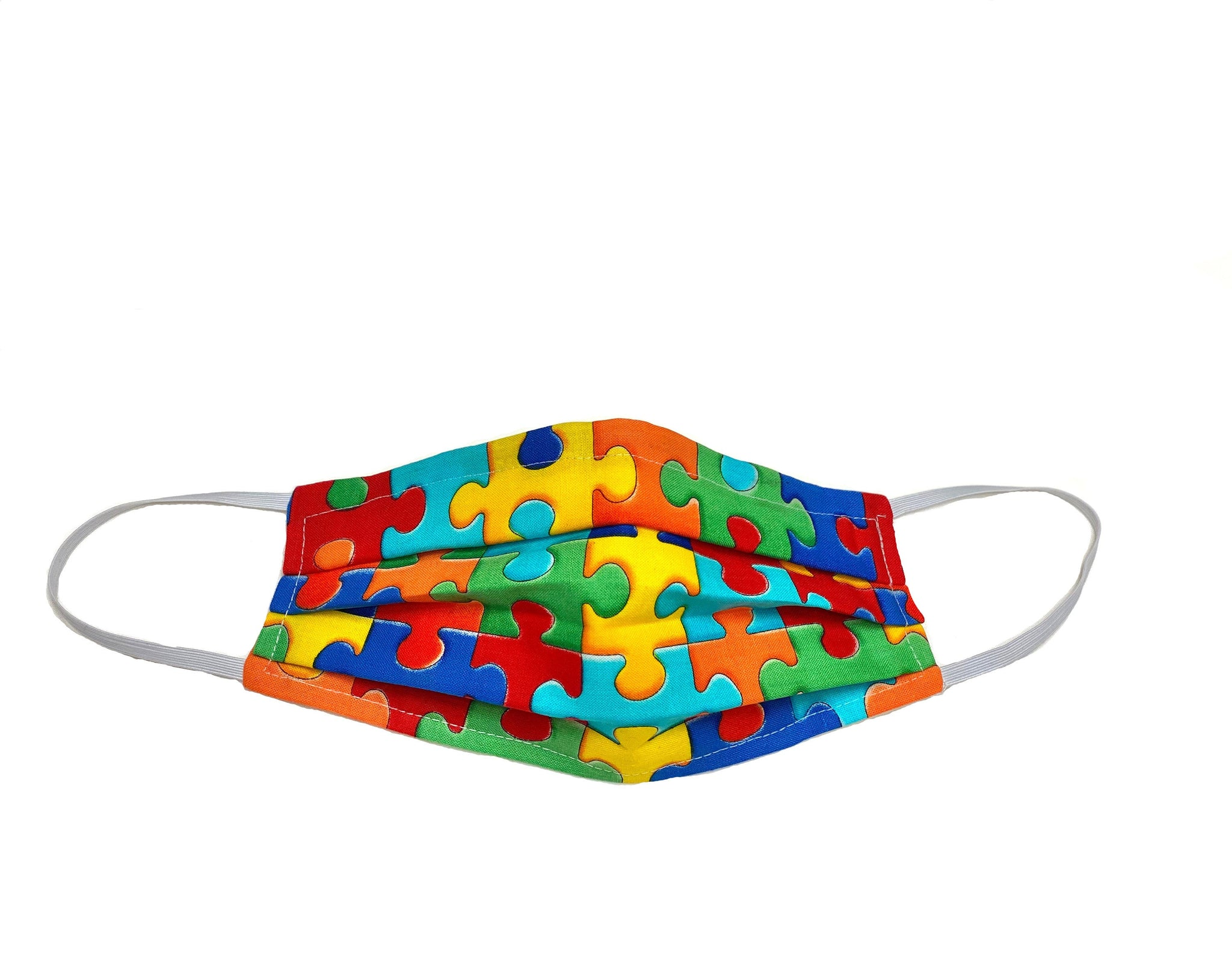 Kids/Teens Autism Awareness BIG Puzzle - Surgical Style Designer Face Mask