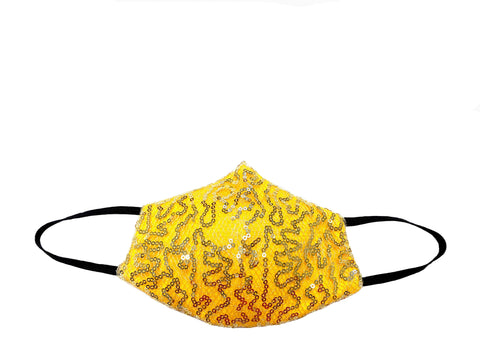 Jasmine Yellow - High Fashion Designer Face Mask