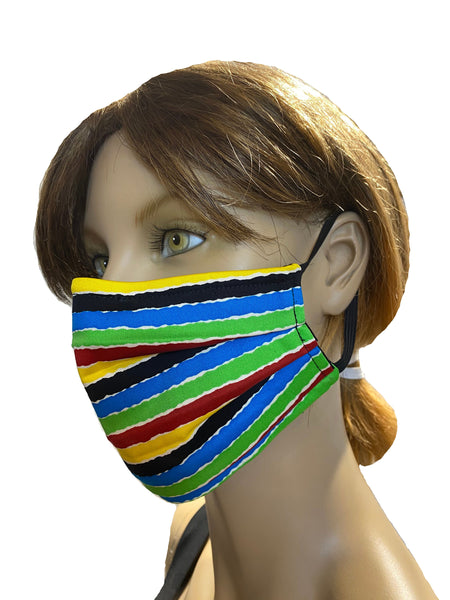 Colorful Stripes - Surgical Style Designer Face Mask