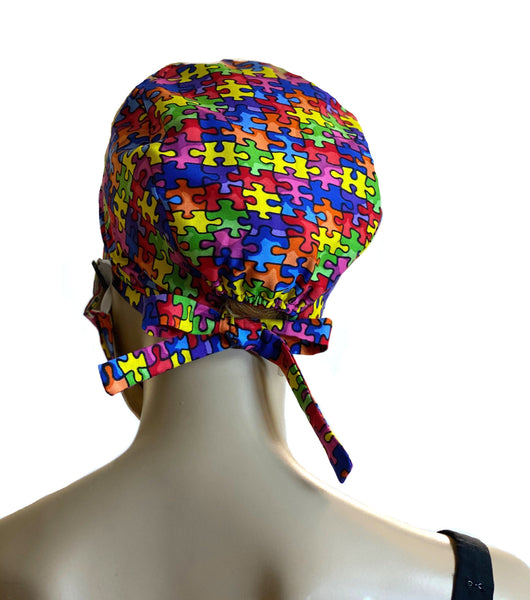Autism Awareness Calico - Designer Head Cover Surgical Style