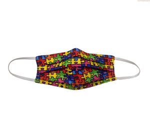 Autism Awareness Puzzle - Surgical Style Designer Face Mask
