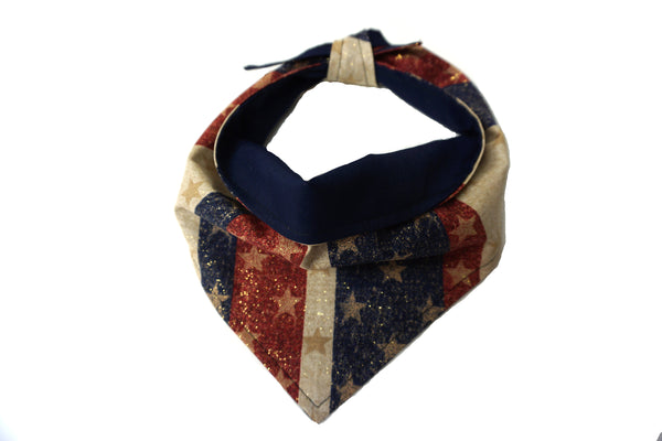 United We Stand - Dog Bandana in American Design for Memorial Day or 4th of July Celebration