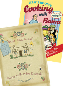 Maw Broon's But An Ben Cookbook and Maw Broon's Cooking with Bairns Gift Pack